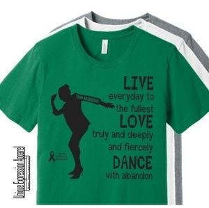Unisex Dance TEAM ARCROSS82 Black Print Tee